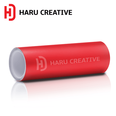 Red Matte Vinyl Wrap - Adhesive Decal Film Sheet Roll - Haru Creative Matte