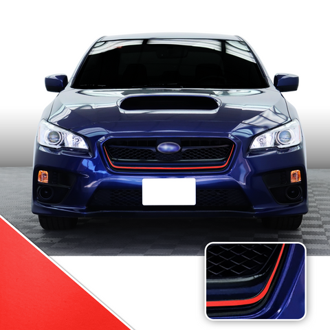 Front Grille Pinstripe Trim Vinyl Decal Compatible With and Fits 2015-2017 Subaru WRX STi