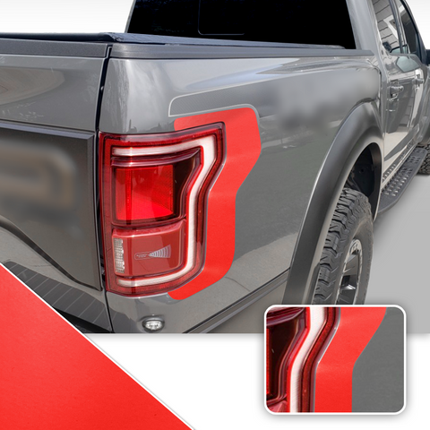 Taillight Accent Decal Overlay Trim Compatible with and Fits Raptor F-150 2018+