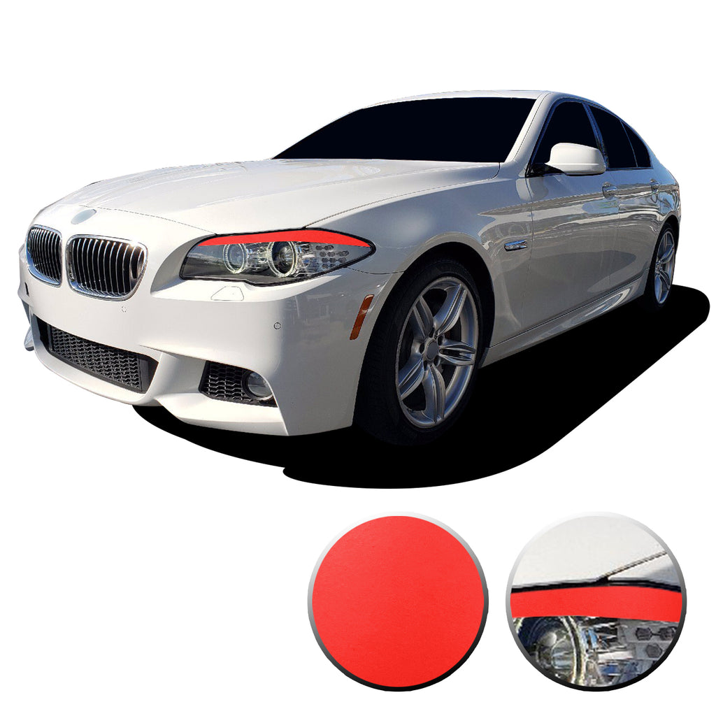 Headlight Eyelid Eyebrow Graphic Vinyl Decal Compatible with BMW 5 Series F10 2011-2013