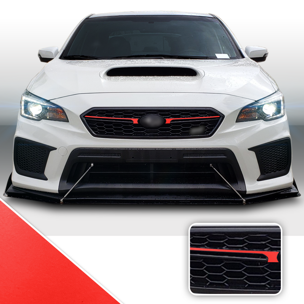 Fab JDM Pinstripe Grille Trim Decal Compatible With and Fits 2018-2020 Subaru WRX STi