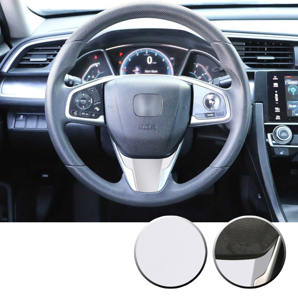 Steering Wheel Bottom Section Trim Vinyl Decal Overlay Accent Compatible with Honda Civic 2016-2020