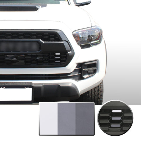 Front Grille 3 Color Vinyl Wrap Decal Compatible with Tacoma TRD Pro 2016-2020