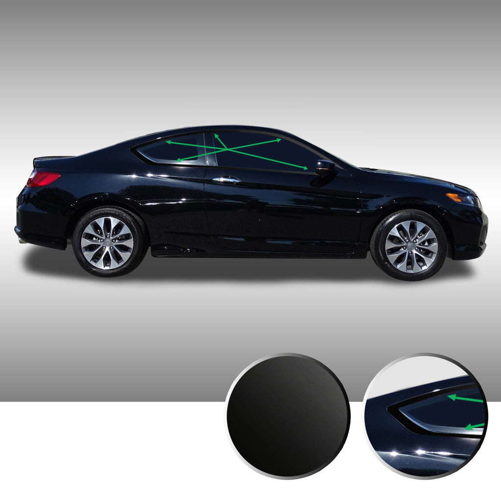 Accord Coupe Window Chrome Delete 2013-2017 - Black
