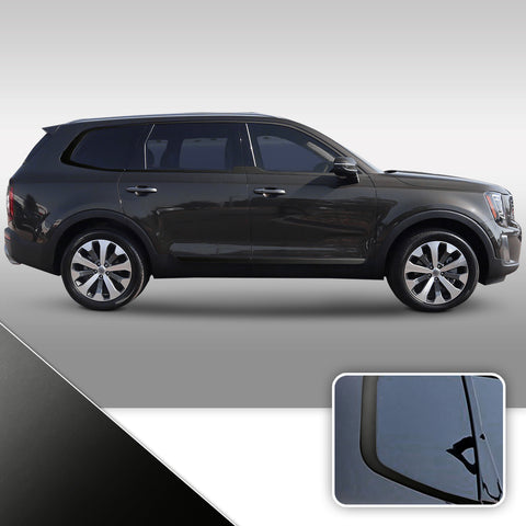 Window & Door Trim Chrome Delete Vinyl Wrap Kit Compatible with Kia Telluride 2020 - 2021