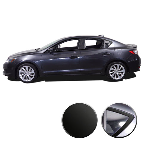 Window Trim Chrome Delete Blackout Vinyl Wrap Kit Compatible with Acura ILX 2013-2020