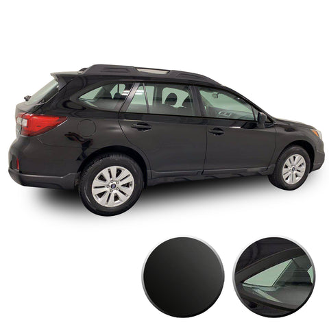Window Trim Chrome Vinyl Wrap Overlay Kit Compatible with Subaru Outback 2015-2019