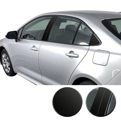 Window Pillar Blackout Precut Vinyl Wrap Overlay Kit Compatible with Toyota Corolla 2019 2020 2021