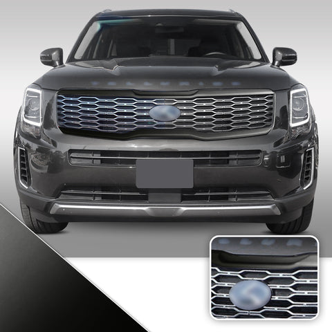 Front Grille Trim Chrome Delete Vinyl Wrap Kit Compatible with Kia Telluride 2020 - 2021