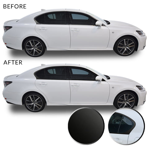 Window Chrome Delete Overlay Blackout Precut Vinyl Kit Compatible with Lexus GS350 GS450h F Sport 2013-2015