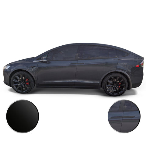 Window Trim Door Handles Chrome Delete Vinyl Wrap Overlay Kit Compatible with Tesla Model X 2016-2020