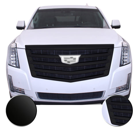 Front Grille Trim Chrome Delete Vinyl Wrap Overlay Kit Compatible with Cadillac Escalade 2015-2020