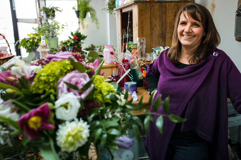 Hi, This is me captured by my new friend, and talented photographer, Ang Waterton. She took these photos to help me create the story of a day in my life in happy place: my flower shop.