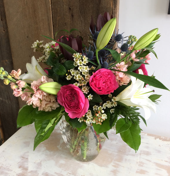 Sympathy Vase Arrangement ~ Medium
