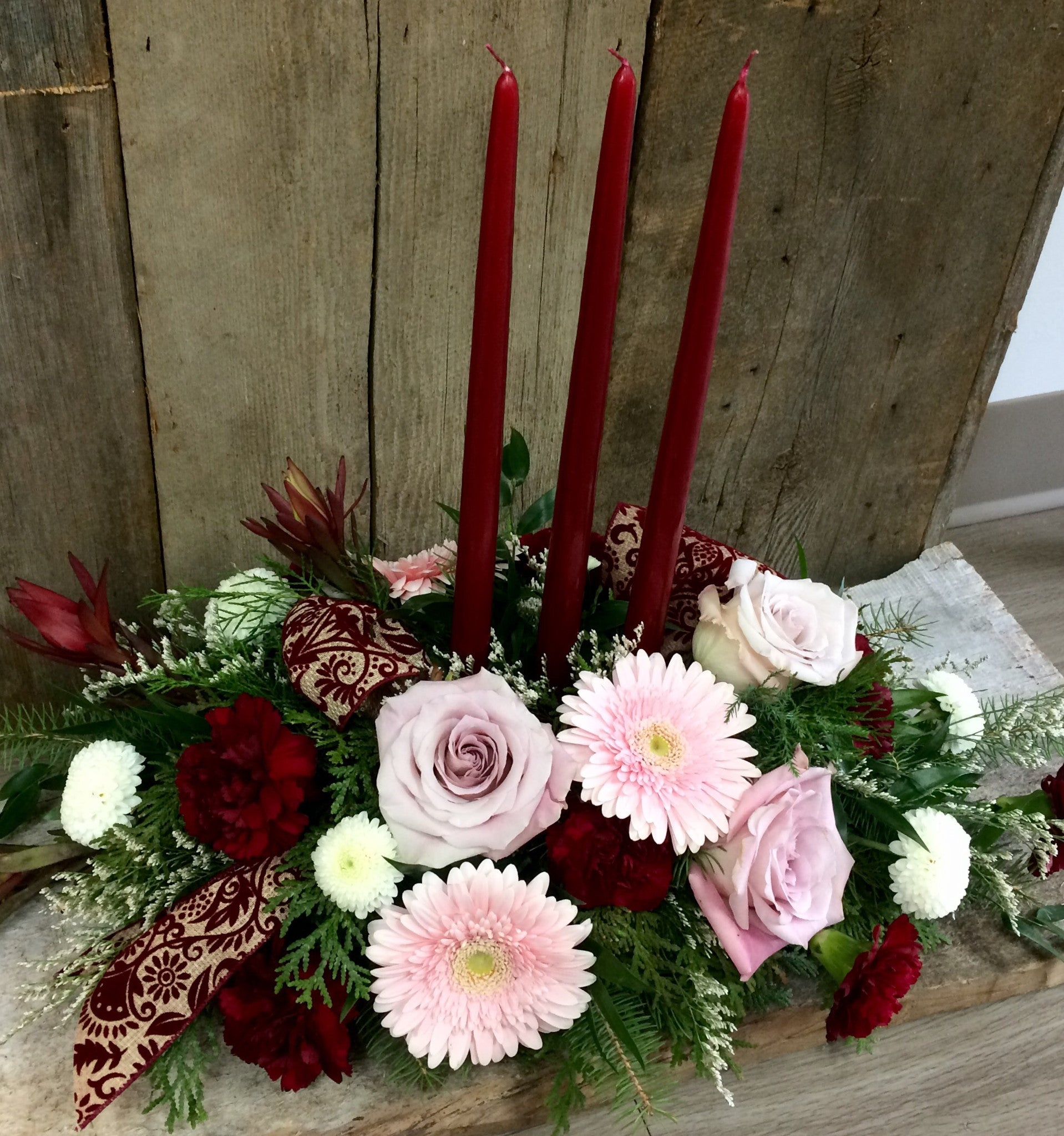Christmas Elegance ~ Double or Triple Candle Centerpiece