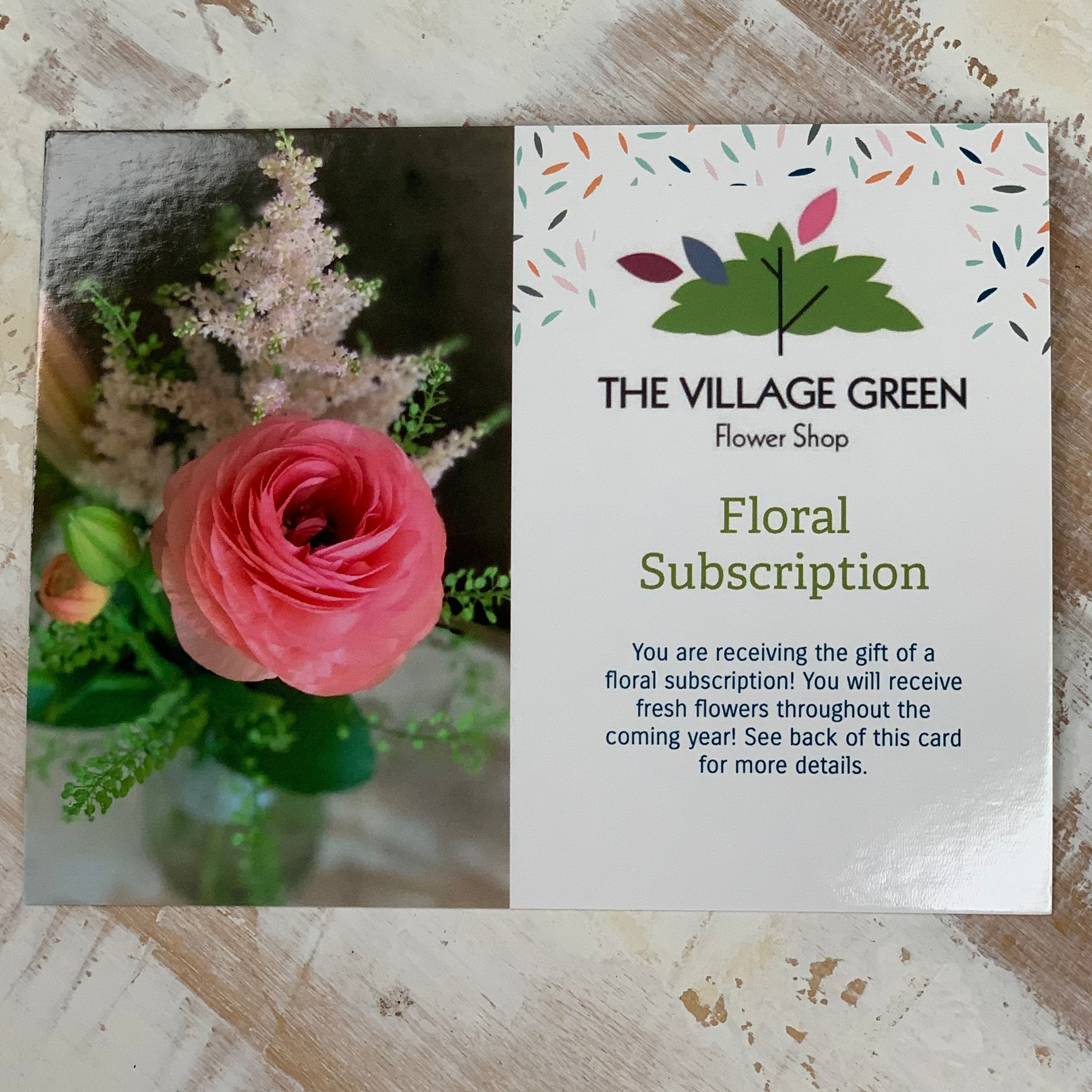 Floral Subscription: Monthly Cut Flower Bouquet Wrapped