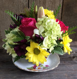 Vintage Teacup Centerpiece