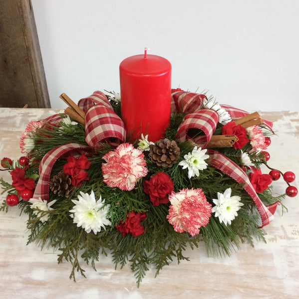 Workshop ~ Christmas Candle Table Centerpiece