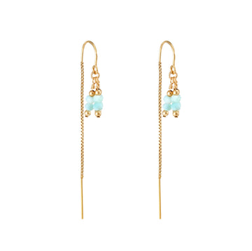 Rima Thread Through Earrings ~ Larimar