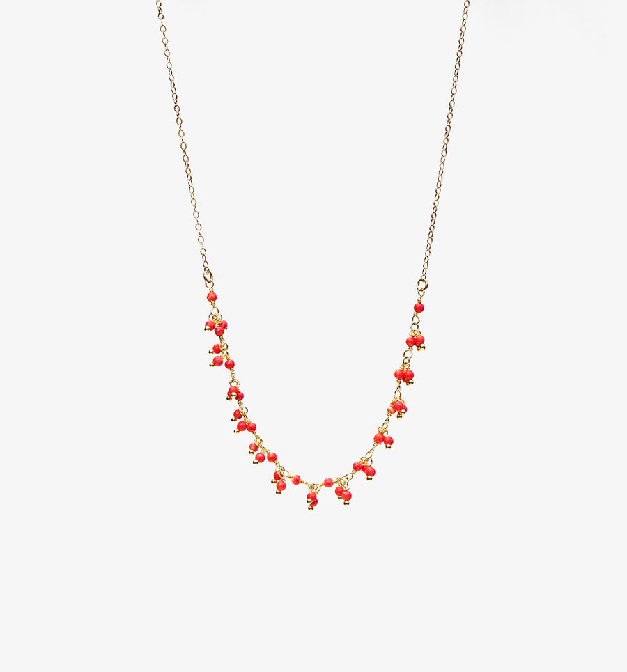 Carmen Necklace ~ Coral