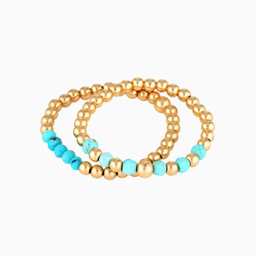 Gold Bead Ring ~ Turquoise