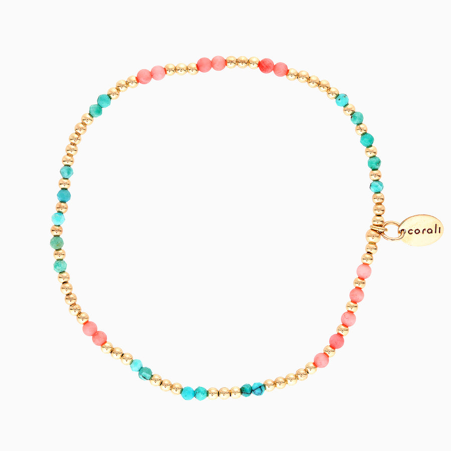 Tropea Bracelet ~ Coral and Turquoise