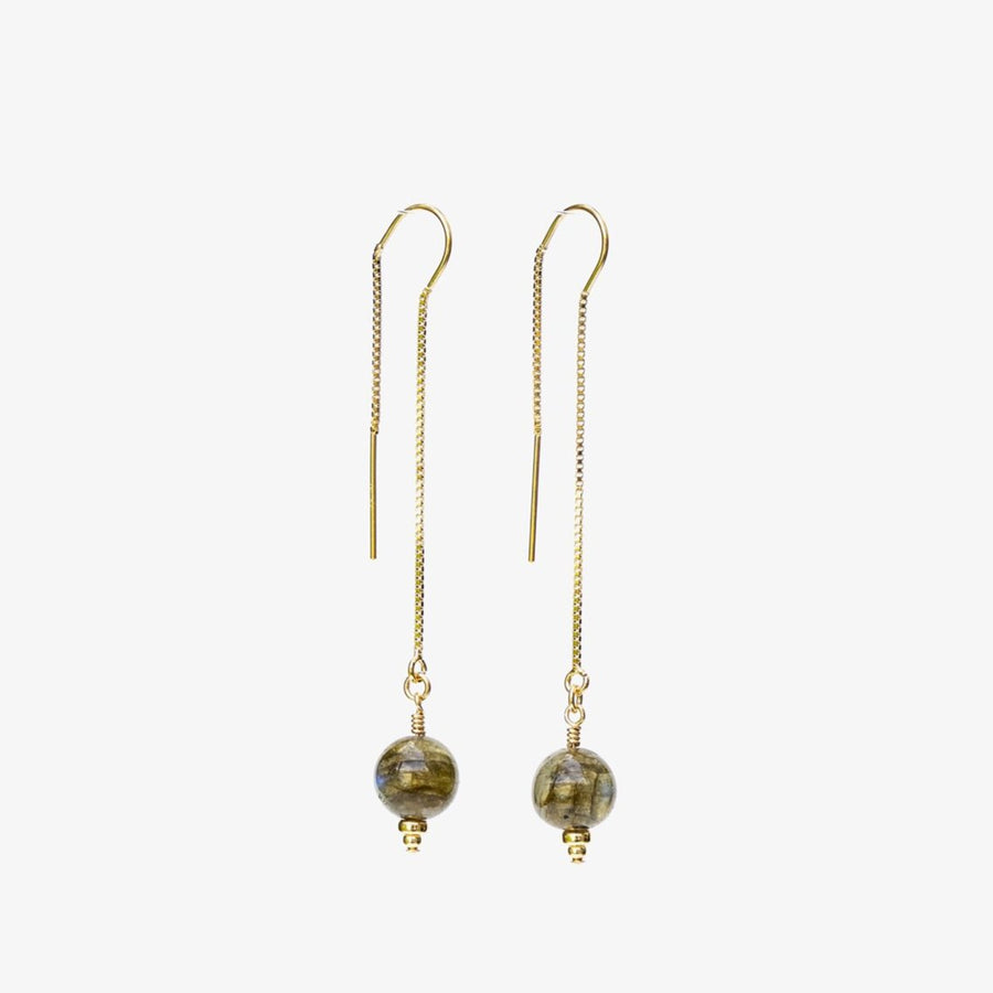 Delia Thread Earrings ~ Labradorite