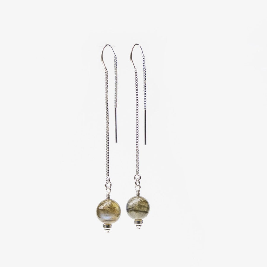 Delia Thread Earrings ✧ Labradorite