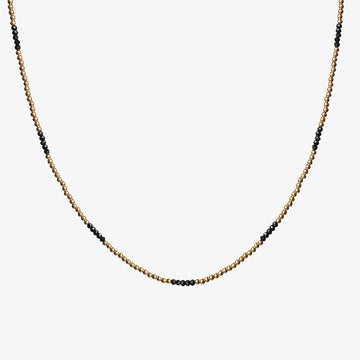 Kora Necklace ~ Black Spinel