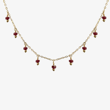 Rain Choker Necklace ~ Ruby