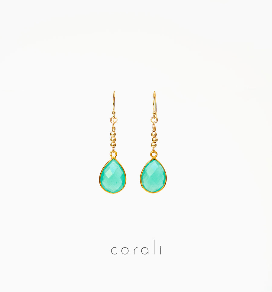 Agua Earrings ✧ Chalcedony