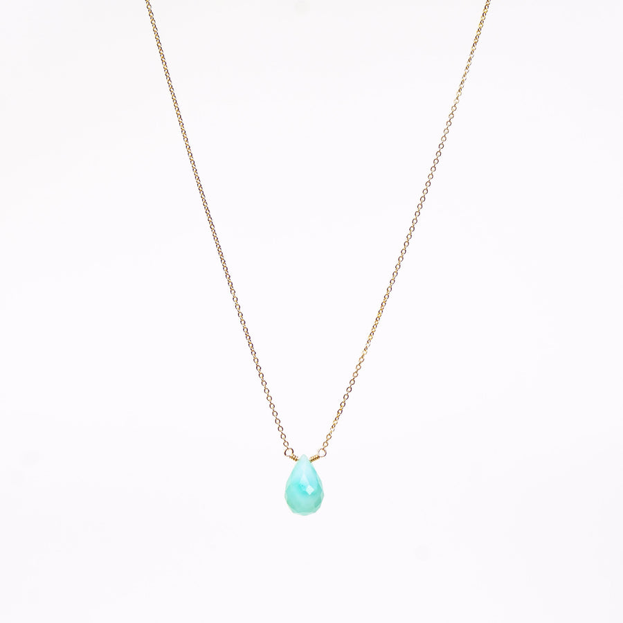 Ava Necklace ✧ Blue Peruvian Opal