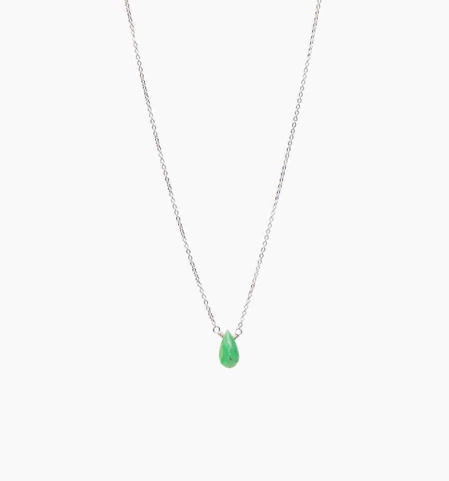 Ava Necklace ~ Chrysoprase