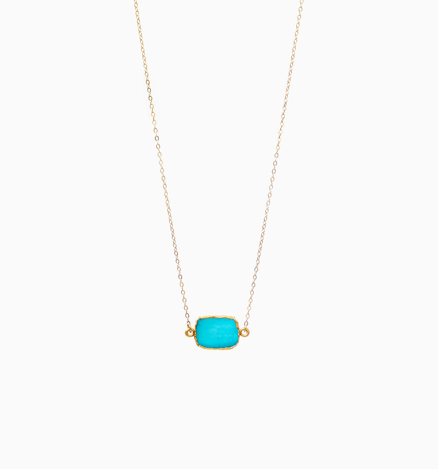 Alba Necklace ✧ Turquoise Howlite