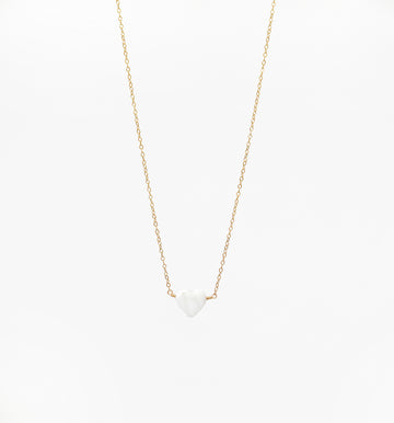 Blanca Heart Necklace ~ Mother of Pearl