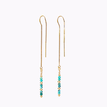 Eevie Thread Earrings ✧ Turquoise