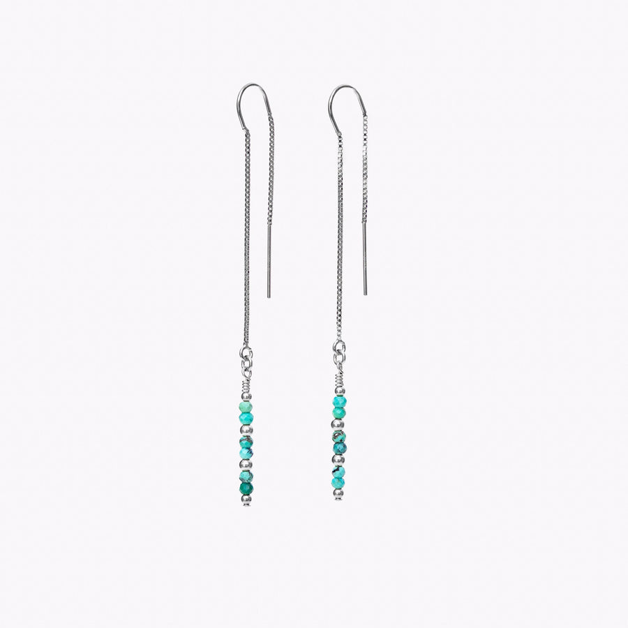 Eevie Thread Earrings ~ Turquoise