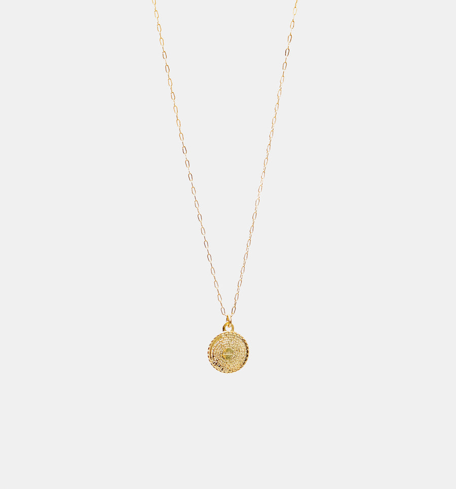 Lord's Prayer Coin Necklace