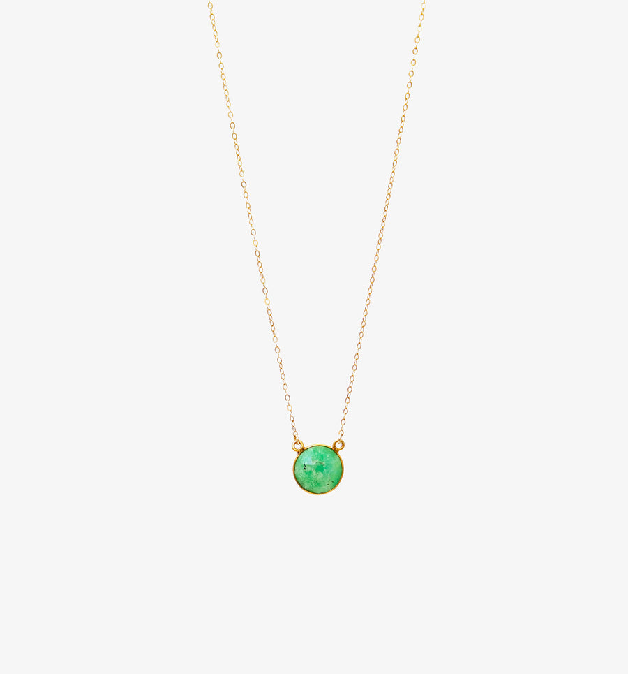 Mika Necklace ~ Chrysoprase