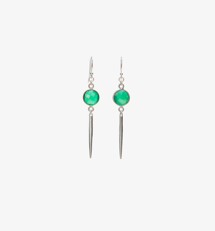 Roxan Earrings ✧ Green Onyx