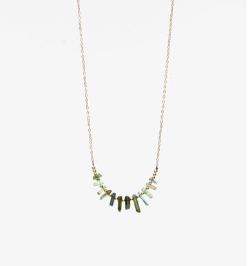 Terra Necklace ✧ Green Tourmaline