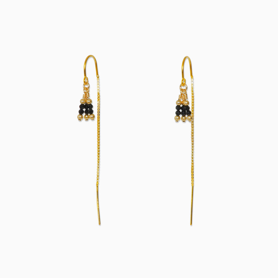 Rima Thread Through Earrings ~ Spinel