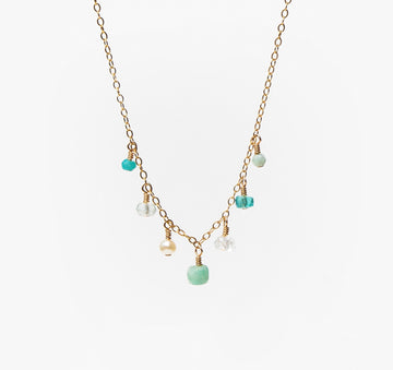 Chantilly Necklace ~ Aqua