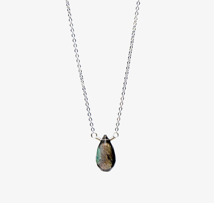 Ava Necklace ~ Labradorite