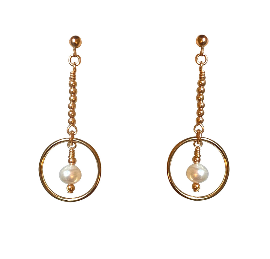 Antibes Earrings ~ Pearl