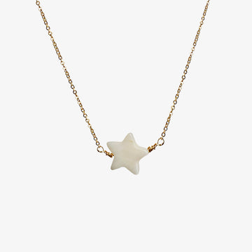 Blanca Star Necklace ~ Mother of Pearl