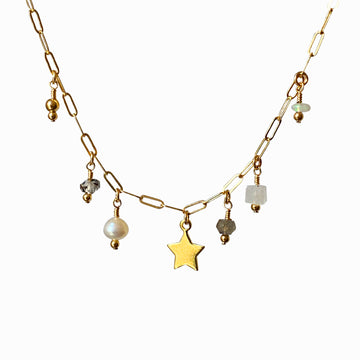 Havar Necklace ~ Star Charm and Gems