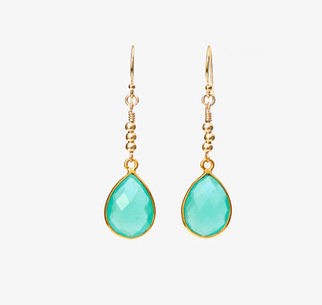 Agua Earrings ~ Chalcedony