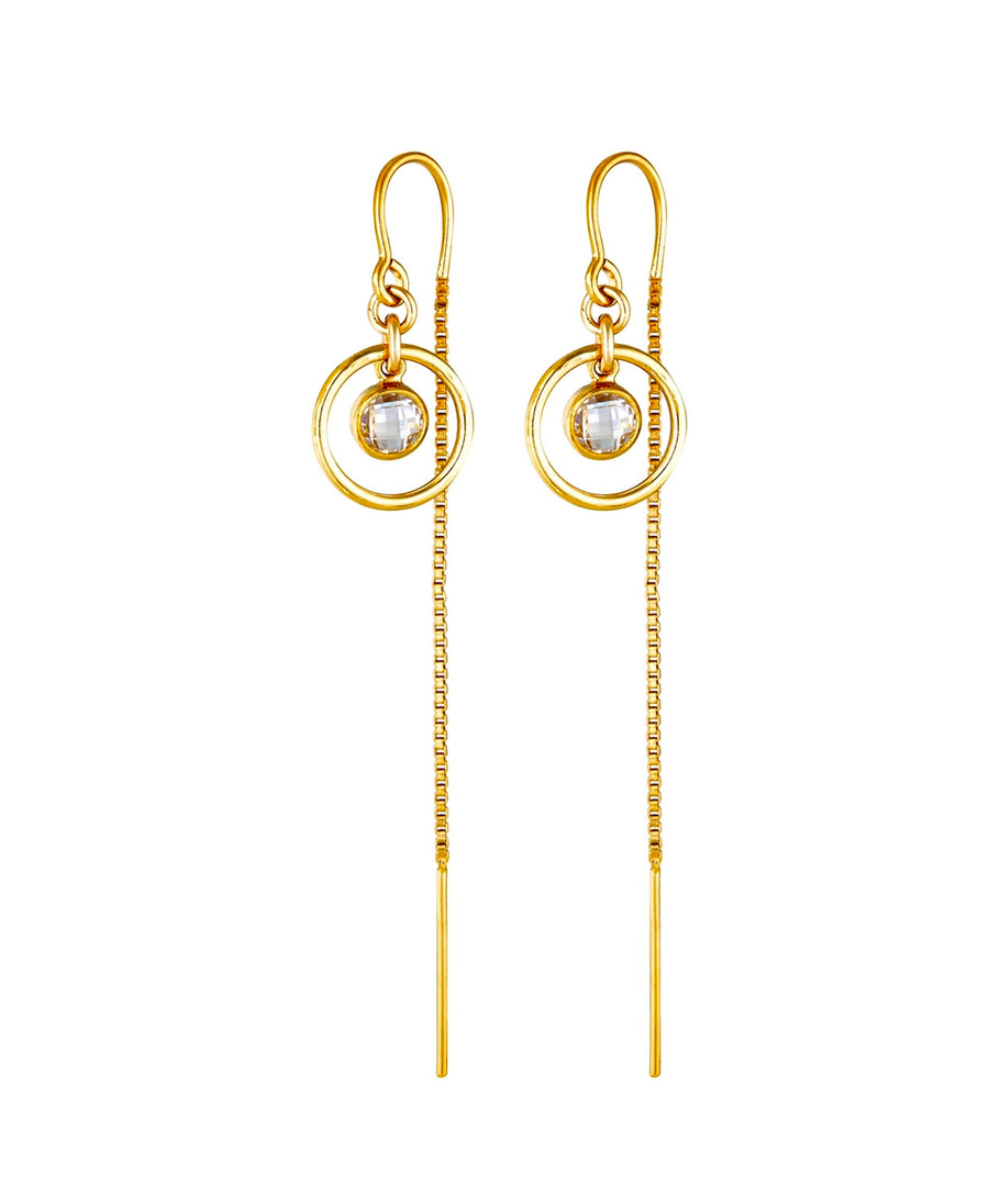 Romi Thread Earrings ~ Cubic Zirconia