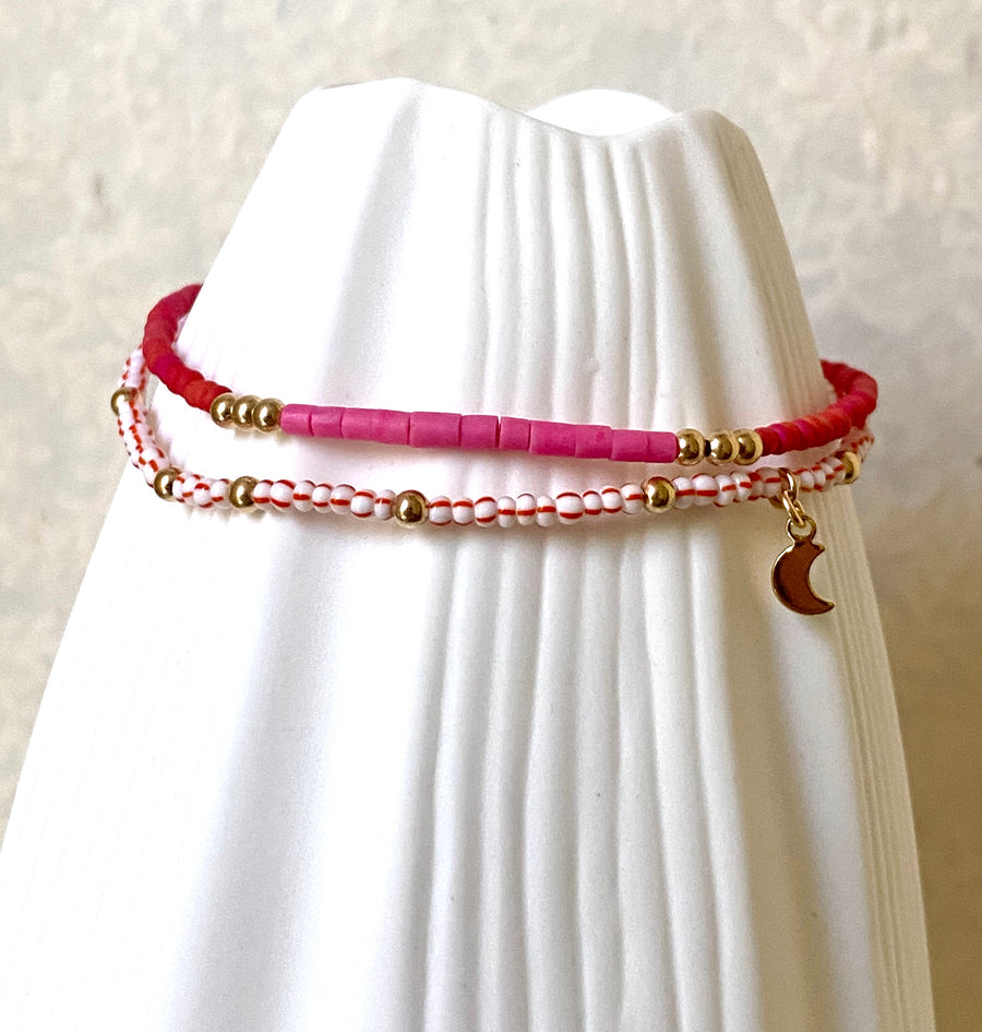 Berry Gold Bracelet Duo